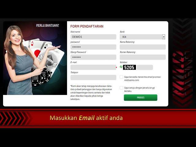 Cara daftar akun judi live casino online di agen resmi Sbobet